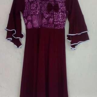 #MakinTebel gamis muslim anak perempuan