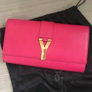 Authentic Preloved YSL Chyc Clutch