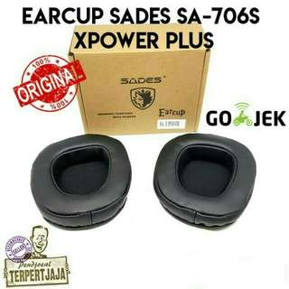 EARCUP HEADSET SADES SA-706S XPOWER PLUS