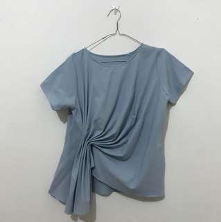 Blue ripple top