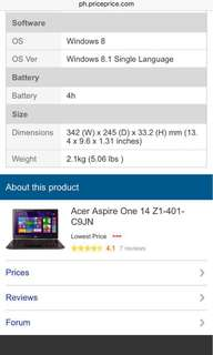 OPEN FOR BIDDING!!! ACER ONE 14