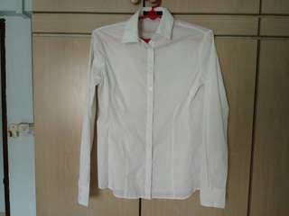 G2000 Essential White Long Sleeve Shirt