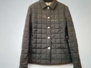 Authentic Burberry Nylon Coat Lady's Black color