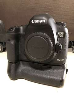 Canon 5D3 body with Batt grip