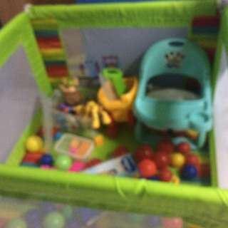 Playpen and Feeding Chair