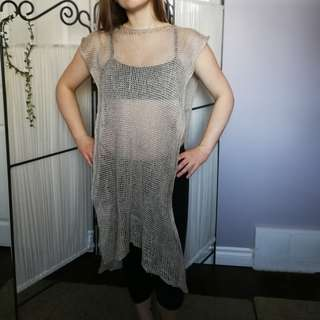 Natural Knit Shawl Top
