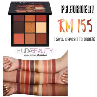 (PREORDER) Huda Beauty Warm Brown Obsessions Palette