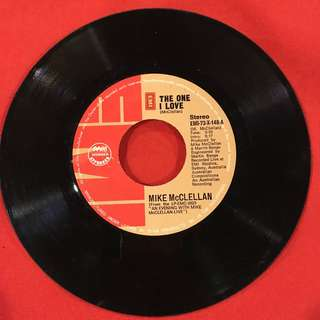 The One I Love / Mr Bojangles - Mike McClellan vintage 45 rpm