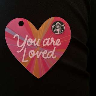 Starbucks card Heart limited edition, pin intact with 45 pesos balance
