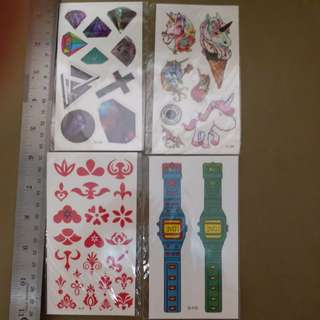 紋身貼紙11張  set c 郵寄貨品包平郵