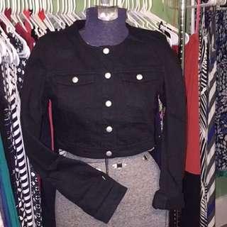 Hnm crop denim jacket