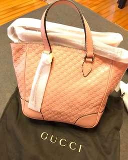 Gucci 粉紅真皮手袋