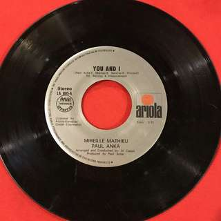 You and I / Bring the Wine - Mireille Mathieu vintage 45 rpm