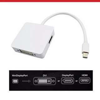 3 in 1 minidisplay to DVI Display Port HDMI output
