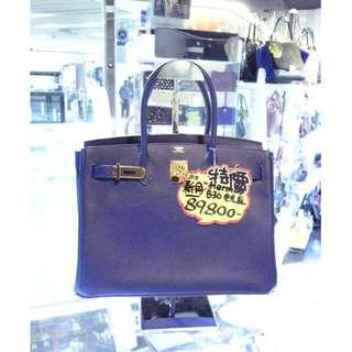 Hermes Electric Blue Epsom Leather Birkin 30cm Shoulder Hand Bag B30 GHW 愛馬仕 電光藍色 牛皮 皮革 經典款 柏金包 30公分 金扣 手挽袋 手袋 肩袋 袋