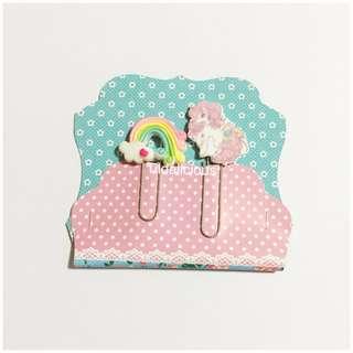 Handmade paper clips