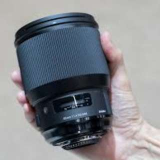 Sigma 85mm f1.4 ART (Nikon) with warranty