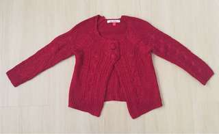 🆕 Red Knitted Cardigan
