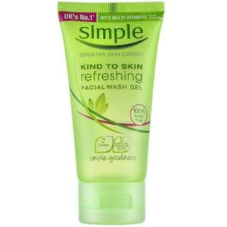 Simple Kind To Skin Refreshing Facial Wash Gel (50 ml)