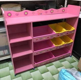 Toy and books shelves with containers