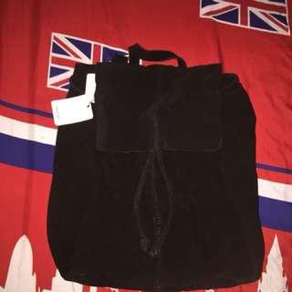 Mango leather bagpack