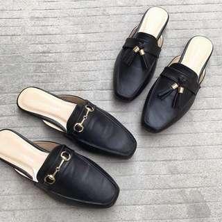 《早·衣服》3月女王節👑懶人必備復古百搭方頭穆勒鞋半拖鞋休閒鞋平底鞋(預)
