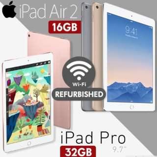 iPad Air 2 / iPad Pro 9.7 (IT SHOW DEALS)( Refurbished )