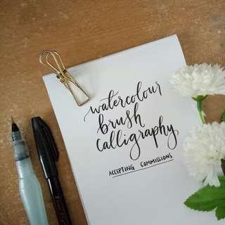 Custom calligraphy service