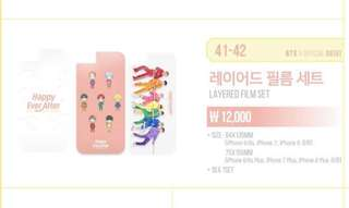 BTS 防彈少年團 4th Muster Layered Film Set (iphone6/7/8 plus)