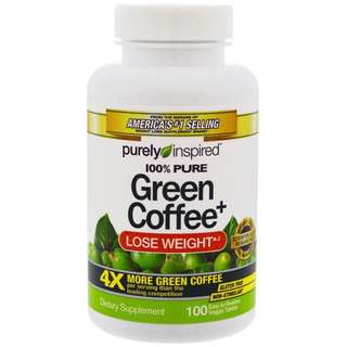Purely Inspired Green Coffee 100 Veggie Tablets