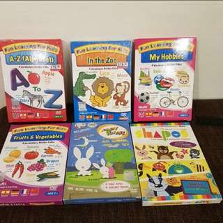 Kids learning alphabet, DVD and songs
