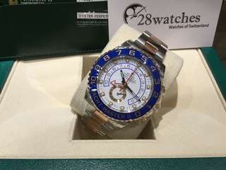 二手 Rolex  「行貨」「藍夜光」 Yacht-Master II 116681