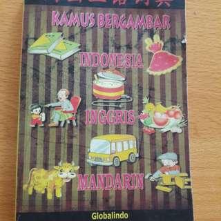 Preloved Kamus Buku Bahasa Indonesia English n Mandarin