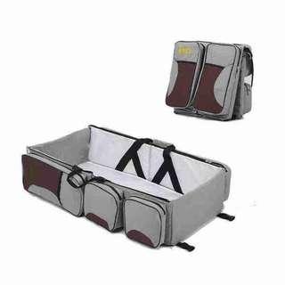 Baby Travel Bed and Diaper Bag Tas Tidur Bayi Traveling Multifungsi