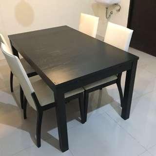 Set meja ikea (expandable) dan kursi informa