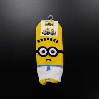 Cute Korean socks - Minion #1 (White)