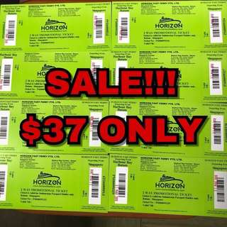 SALE HORIZON FAST FERRY $37 Two Way Include Tax. For INDONESIAN PASSPORT ONLY. OPEN TICKETS.