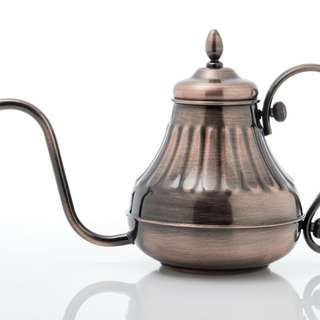 咖啡手沖壶古銅色(宮廷壶)十耐熱玻璃分享壶
