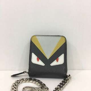 Fendi monster chain wallet