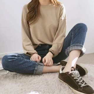 Ulzzang plain Long sleeve tee