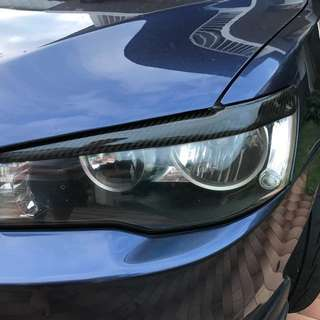 lancer ex  carbon fiber eye lid