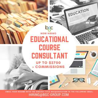 Educational Course Consultant (Up To $2700)