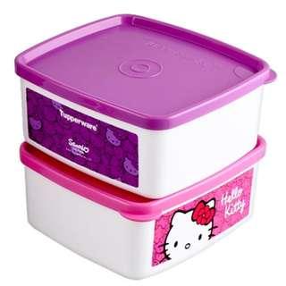 Tupperware Hello Kitty Keeper Limited Release(Pink/Purple)