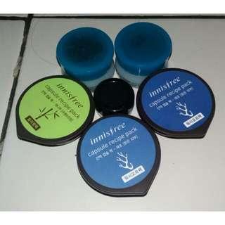 Innisfree Capsule Recipe Pack Seeweed & Bamboo Scrub Kopi Masker The Body shop