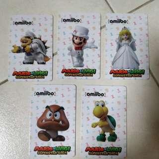 Amiibo cards for Super Mario Odyssey