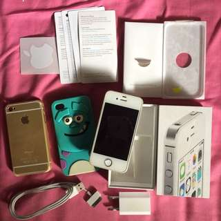 Iphone 4s white 8gb fullset