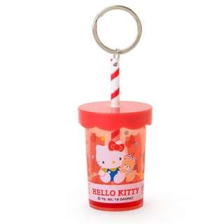 Japan Sanrio Hello Kitty Straw Cup Key Holder