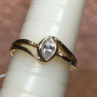 18kt marquise cut diamond ring