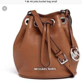 "Authentic Michael kors ""jules bucket bag"