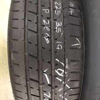 225/35/19 pzero run flat tyre 1pc available 70% tread
